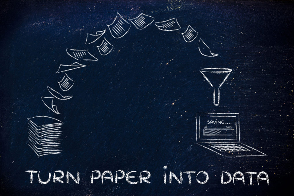 turn paper into data with digital transformation