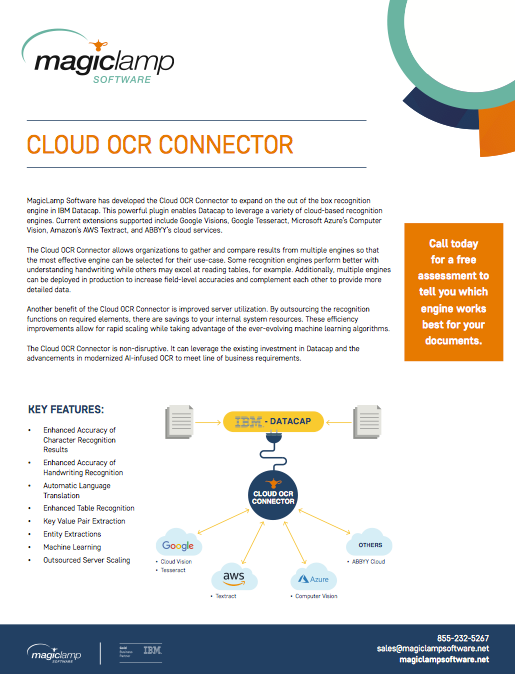 cloud ocr connector magiclamp software